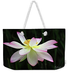 Graceful Lotus Weekender Tote Bag