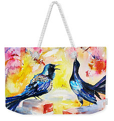 Grackles And Graffiti  Weekender Tote Bag