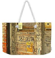Graffiti Door - Ground Zero Blues Club Ms Delta Weekender Tote Bag