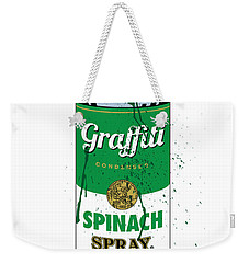 Graffiti Spinach Spray Can Weekender Tote Bag