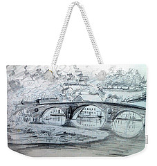 Graignamanagh Bridge River Barrow  Kilkenny Ireland  Weekender Tote Bag by Trudi Doyle