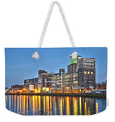 Weekender Tote Bag featuring the photograph Grain Silo Rotterdam by Frans Blok