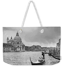 Weekender Tote Bag featuring the painting Grand Canal Venice Italy by Georgi Dimitrov