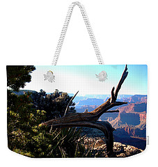 Weekender Tote Bag featuring the photograph Grand Canyon Dead Tree by Matt Harang