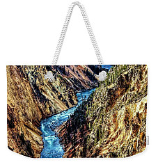 Weekender Tote Bag featuring the photograph Grand Canyon Of The Yellowstone by Benjamin Yeager