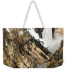 Weekender Tote Bag featuring the photograph Grand Canyon Of The Yellowstone by Michael Chatt