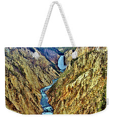 Weekender Tote Bag featuring the photograph Grand Cayon Of The Yellowstone River by Benjamin Yeager
