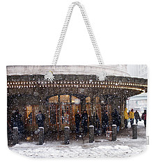 Grand Central Terminal Snow Color Weekender Tote Bag