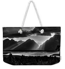 Grand Teton Light Beams Weekender Tote Bag