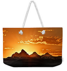 Grand Teton Sunrise Weekender Tote Bag