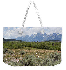 Weekender Tote Bag featuring the photograph Grand Tetons From Willow Flats by Belinda Greb