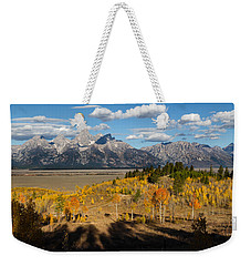 Grand Tetons In Autumn Weekender Tote Bag