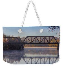 Grand Trunk Railroad Bridge Weekender Tote Bag