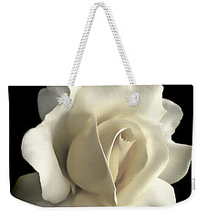 Grandeur Ivory Rose Flower Weekender Tote Bag