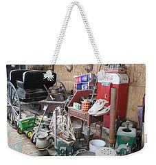 Weekender Tote Bag featuring the photograph Grandpop's Garage by Judith Morris