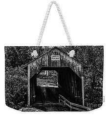 Grange City Covered Bridge - Bw Weekender Tote Bag