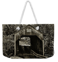 Grange City Covered Bridge - Sepia Weekender Tote Bag