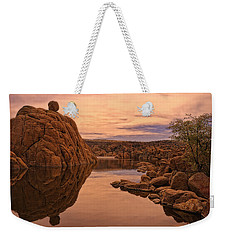 Weekender Tote Bag featuring the photograph Granite Dells by Priscilla Burgers