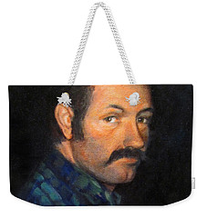 Weekender Tote Bag featuring the painting Grant by Donna Tucker