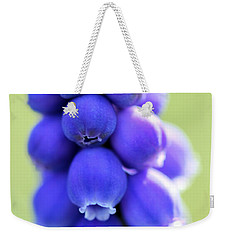 Weekender Tote Bag featuring the photograph Grape Hyacinth by Todd Blanchard