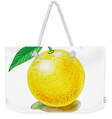 Weekender Tote Bag featuring the painting Grapefruit by Irina Sztukowski