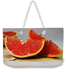 Grapefruit Slices Weekender Tote Bag by Joseph Skompski
