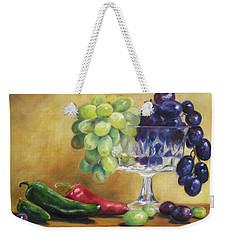 Grapes And Jalapenos Weekender Tote Bag by Lori Brackett