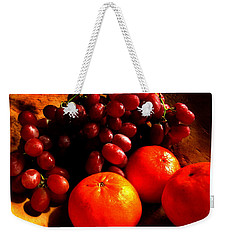 Grapes And Tangerines Weekender Tote Bag by Greg Allore