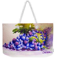 Grapes Weekender Tote Bag by Chrisann Ellis