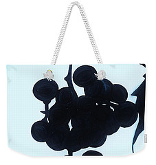 Weekender Tote Bag featuring the drawing Grapes by D Hackett