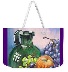 Grapes Galore Weekender Tote Bag by Marilyn  McNish