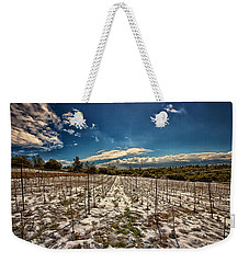 Grapes In Snow Weekender Tote Bag