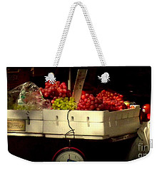 Grapes With Weighing Scale Weekender Tote Bag