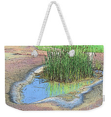 Grass Growing On Rocks Weekender Tote Bag by Teresa Zieba