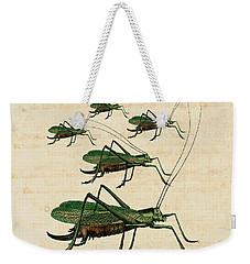 Grasshopper Parade Weekender Tote Bag by Antique Images