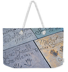 Grauman's Chinese Theatre Marilyn Monroe Weekender Tote Bag