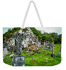 Graveyard And Church Ruins On Ireland's Mizen Peninsula Weekender Tote Bag