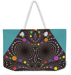 Weekender Tote Bag featuring the digital art Gravity And Magnetism by Mark Greenberg