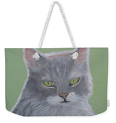 Cat With Green Eyes  Weekender Tote Bag