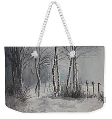 Gray Forest Weekender Tote Bag