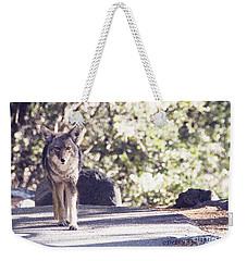 Coyote And Me At Vernal Falls Weekender Tote Bag by Debby Pueschel