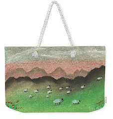 Grazing In The Hills Weekender Tote Bag by Tracey Williams