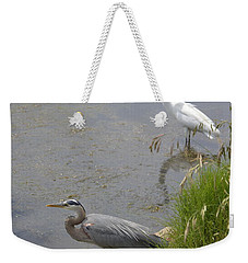 Great Blue And White Egrets Weekender Tote Bag