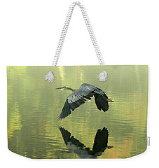 Great Blue Fly-by Weekender Tote Bag