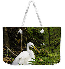 Great Blue Heron - White Weekender Tote Bag