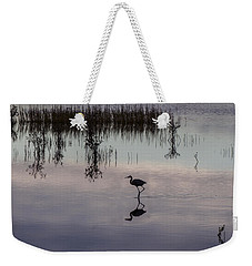 Great Blue Heron At Sundown Weekender Tote Bag
