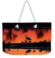 Great Blue Heron At Sunrise Weekender Tote Bag