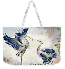 Great Blue Heron Couple Weekender Tote Bag