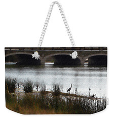 Great Blue Heron Weekender Tote Bag by Ellen Tully