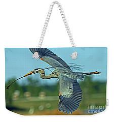Great Blue Heron Flight 2 Weekender Tote Bag